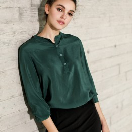 100% Natural Silk Long Sleeve Blouse