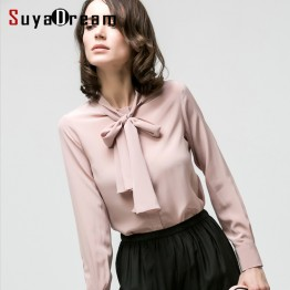 100% REAL SILK Long Sleeve Blouse