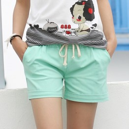 Perfect For Summer, Elastic Candy Color Shorts With Belt