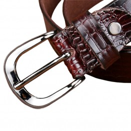 Genuine Leather Crocodile Print Designer Belt