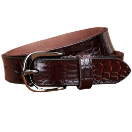 Genuine Leather Designer Crocodile Print Belt