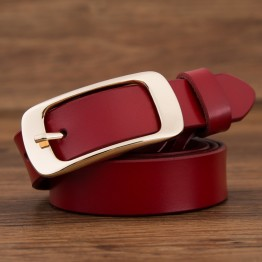 Genuine Leather Pin Buckle Belt