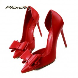 Beautiful Bowtie Pointed Toe High Heels