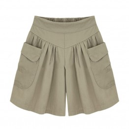 Stylish Loose Khaki High Waist Shorts