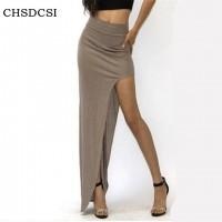Charming Long Open Side Split Skirt