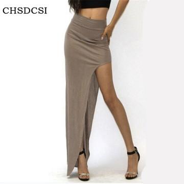 Charming Long Open Side Split Skirt - 32360294001