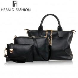 3 Pcs/Set Vintage Messenger Bag, Shoulder Bag, and Tote Top Handle Bag