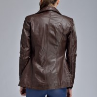 Guaranteed 100% Genuine Leather Sheepskin Brown Long Leather Trench