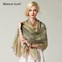 Pure Silk Shawl Plaid Style Scarf