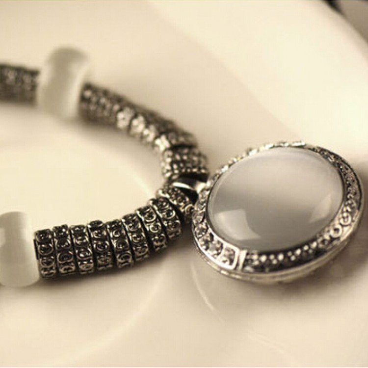 Classic necklace pendant opal fashion statementaccessories classic necklace pendant opal fashion statement accessories aloadofball Images