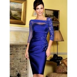 Elegant Long Sleeve Cocktail Dress