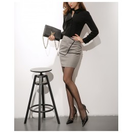 Elegant Black Blouse and Skirt