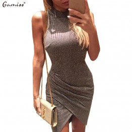 Sexy Sleeveless Knitted Casual Pencil Dress