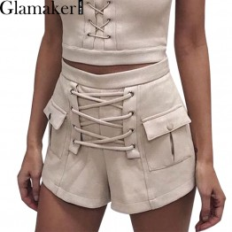 Chick Lace Up Suede Shorts
