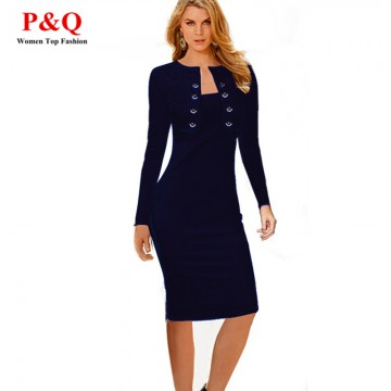 Attractive Full Sleeve Business Dress - 32221215204