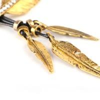 Vintage Alloy Feather Necklace Pendant