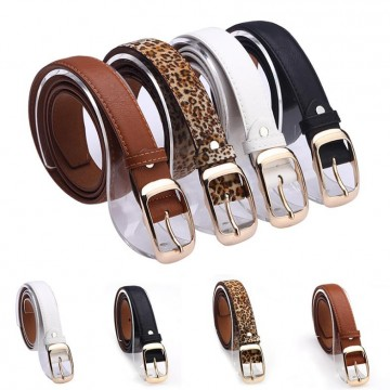 Designer Faux Leather Metal Buckle Straps - 32426375777