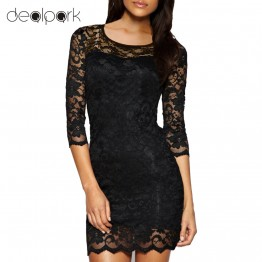 Stylish Flower Lace Short Evening Dress