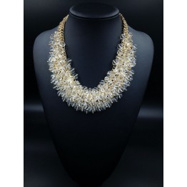 Luxurious Crystal Geometry Choker Necklace