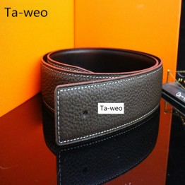 (No Buckle, Only Belt)  Genuine Leather Belts