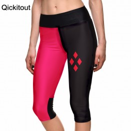 Sexy Red & Black Geometric Print Leggings