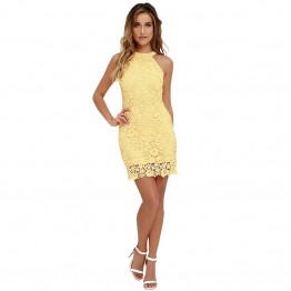 Short Yellow Lace Dress