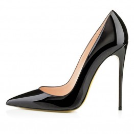 Elegant And Sexy Pointed Toe Leather Heels