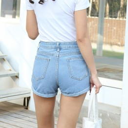 Fashionable Retro High Waist Denim Shorts