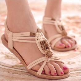 Elegant String Bead Beach Sandals
