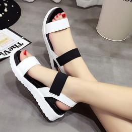 Pretty Peep Toe Flat Shoes