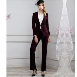 Designer Professional Suit Jacket and Pants