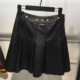 Genuine Sheep Leather Skirt